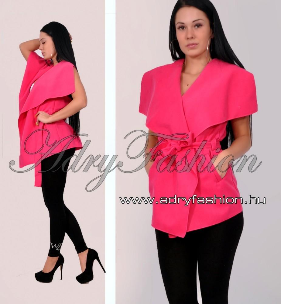 Pink rövid fazonú csini mellény megkötős - AdryFashion női ruha ... 7979641058