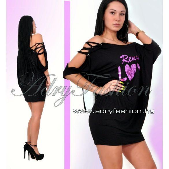 RENSIX lenge női ruha FEKETE - AdryFashion női ruha webáruház 5ac98ddf09