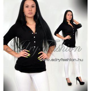 RENSIX fekete színű  - patentos  ing   S-es méret