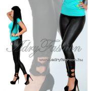 RENSIX bőrhatású legging  oldalán masni díszes
