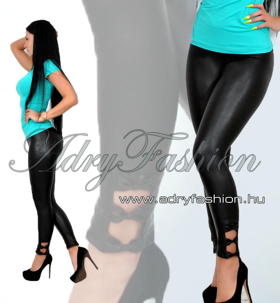 fe78857259 RENSIX bőrhatású legging oldalán masni díszes - AdryFashion női ruha ...