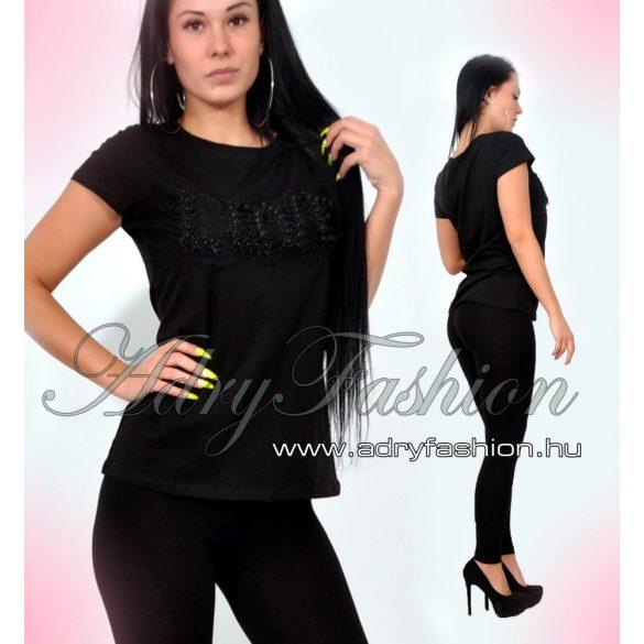 7349b3351e Csini fekete LOVE feliratos női póló L/XL - AdryFashion női ruha ...