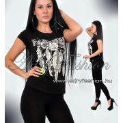 Csini fekete színú  női póló S/M