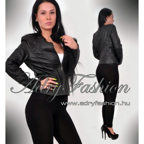 Fekete motoros bőrdzseki - AdryFashion női ruha webáruház d51da84aaa