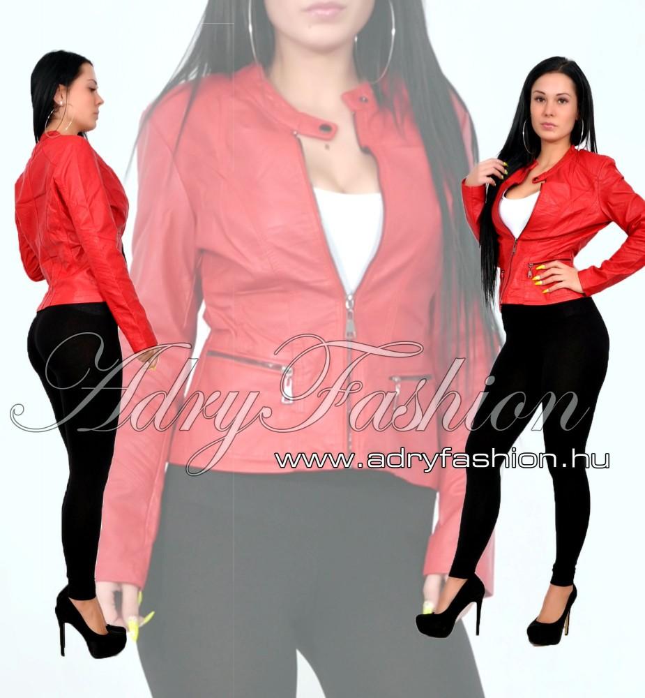 Pirosas Bordó motoros műbőr dzseki - AdryFashion női ruha webáruház ... 0f9817e0b2
