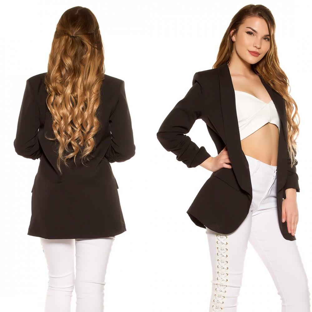 Fekete hosszított blézer S-es - AdryFashion női ruha webáruház bfcdf9211f
