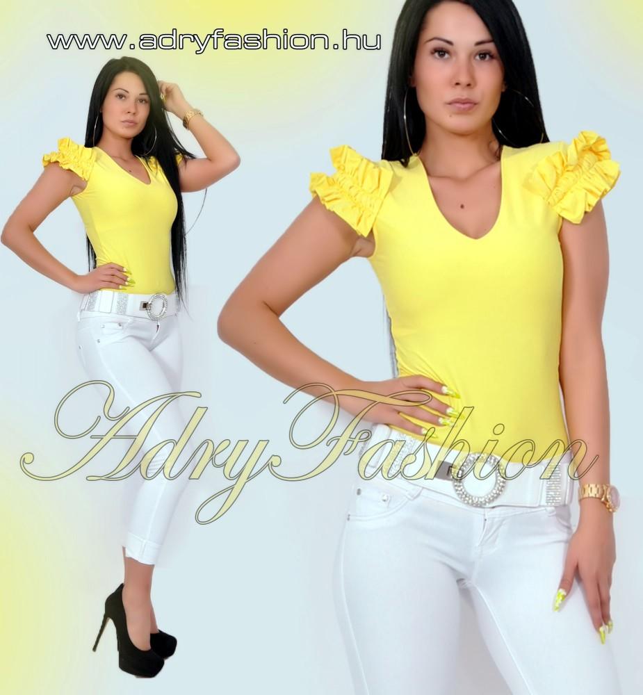 c90a642bab Rensix sárga fodros ujjú poliamid női felső - AdryFashion női ruha ...
