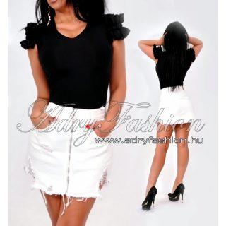 Rensix fekete fodros ujjú poliamid női felső