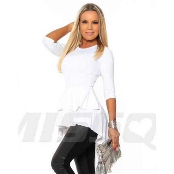 77fc89339a MISSQ fodros sugár tunika - fehér színű - AdryFashion női ruha ...