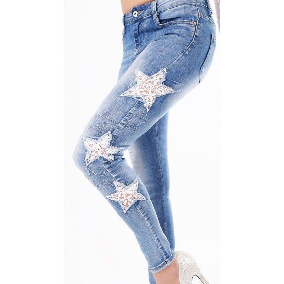 1a5b34ed3c Csillag mintás Skinny farmer nadrág - AdryFashion női ruha webáruház ...