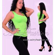 Neonzöld pamut trikó
