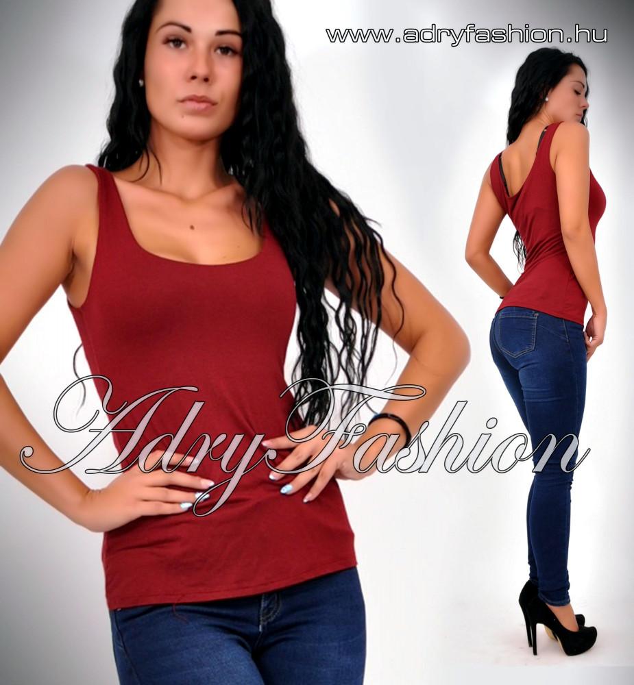 a752791b6d Bordó pamut trikó - AdryFashion női ruha webáruház, Ruha webshop ...
