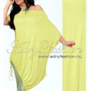 Sárga pamut vállra húzható alul megkötős lenge ruha