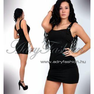 Fekete kantáros női ruha