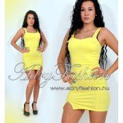 Pasztel sárga kantáros női ruha