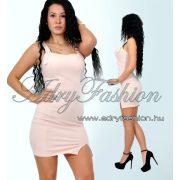 Púder rózsaszín kantáros női ruha