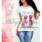 Yorkis MISS DANCE pamut póló