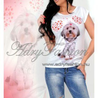Yorkis szivecskés pamut póló