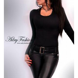 Fekete basic női felső