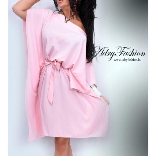 Rózsaszín derekánál megkötős lepel ruha
