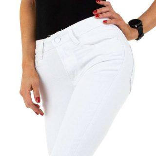 Fehér színű Nina Carter farmer nadrág