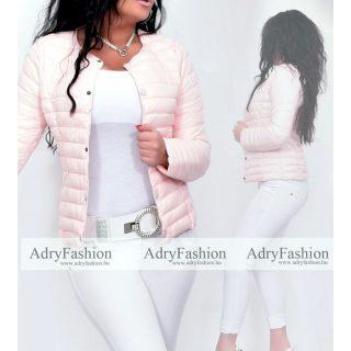Púder rózsaszín tavaszi pufi dzseki