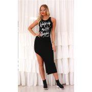 Dress fekete maxi női ruha