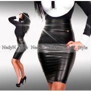 NedyN fekete bőrhatású szoknya Babi szoknya