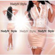 Nedyn fehér arany alkalmi zsabós alkalmi női ruha