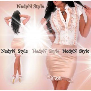 bae839201 Nedyn fehér arany alkalmi zsabós alkalmi női ruha - AdryFashion női ruha  webáruház, Ruha webshop, Amnesia, NedyN, Rensix , Egyedi ruha