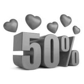 - 50 % AKCIÓ